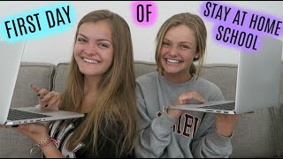 First Day of Stay at Home School During the Quarantine #WithMe ~ Jacy and Kacy