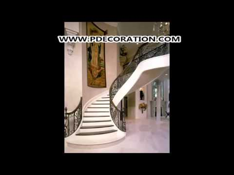 decoration escaliers photos decoration maison youtube. Black Bedroom Furniture Sets. Home Design Ideas