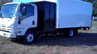 Isuzu NPR EFI Gas 18 Ft Lawn Box 3 Ft Side Dump with Fuel Station
