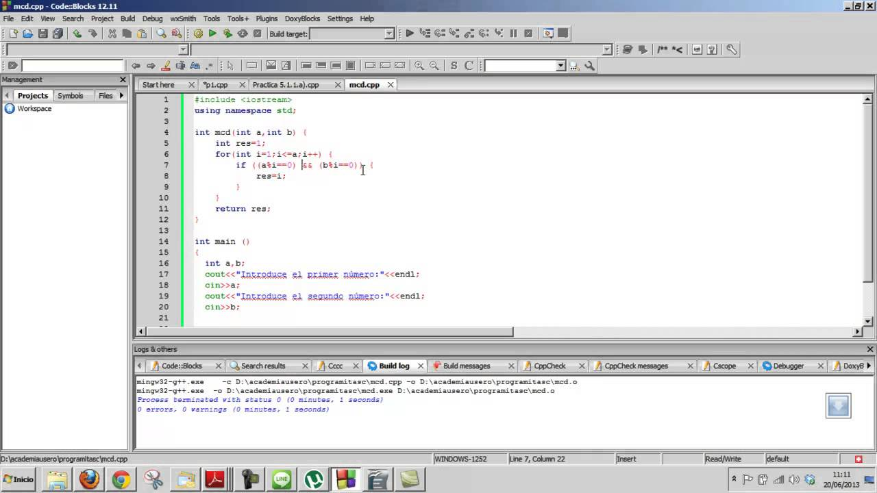 Maximo comun divisor c curso c inform tica programaci n for Pared de 15 ladrillo comun