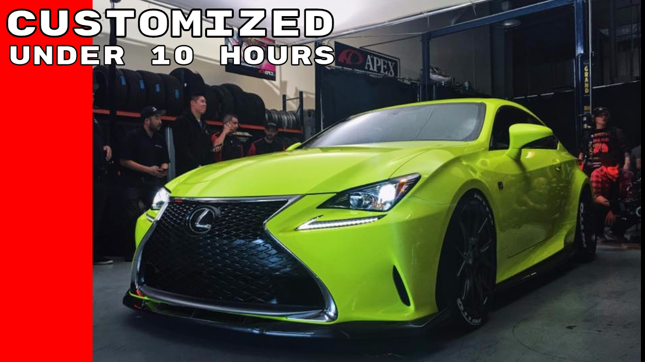 Fans Vote To Help Lexus Customize A Rc F Sport In Under 10 Hours