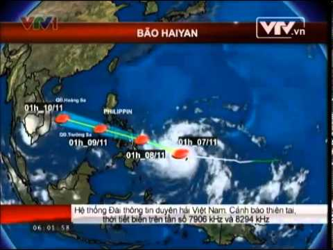 Tin mới nhất bão số 14 năm 2013: Bão HAIYAN cấp 17 vào biển đông