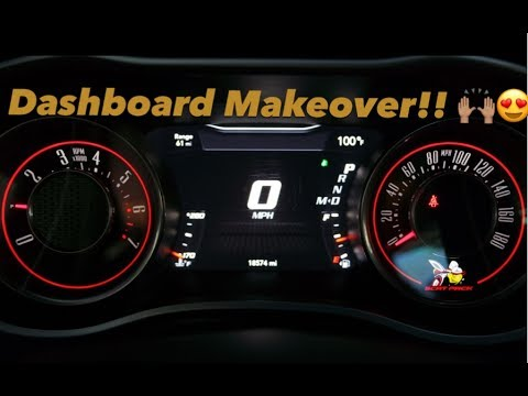 2016 Dodge Challenger ScatPack Custom Instrument Cluster Gauges