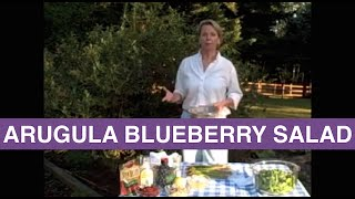Raw Food Recipes - Arugula Blueberry Salad - Raw Food Diet - Pam Sterling
