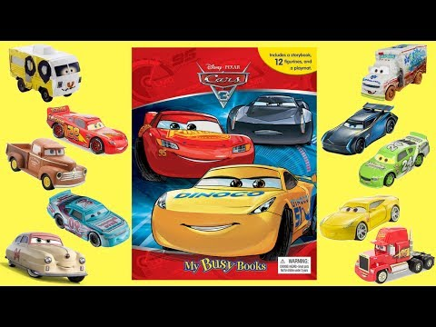 Cars 3 My Busy Books Story and Figurine Set ~ Fun at Disney Cars Land ~ Kids Variety Show