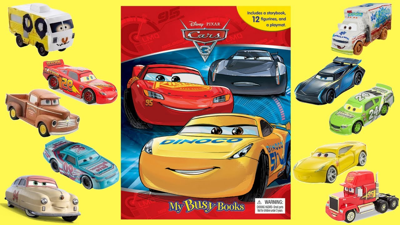 cars 3 my busy books story and figurine set fun at disney cars land kids variety show