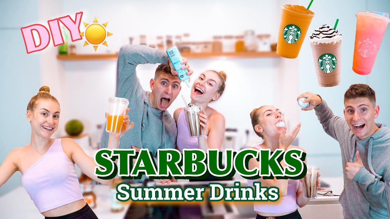DIY 5 STARBUCKS Summer Drinks 2021 in 5 min! 🍹☀️/ NicoleDon