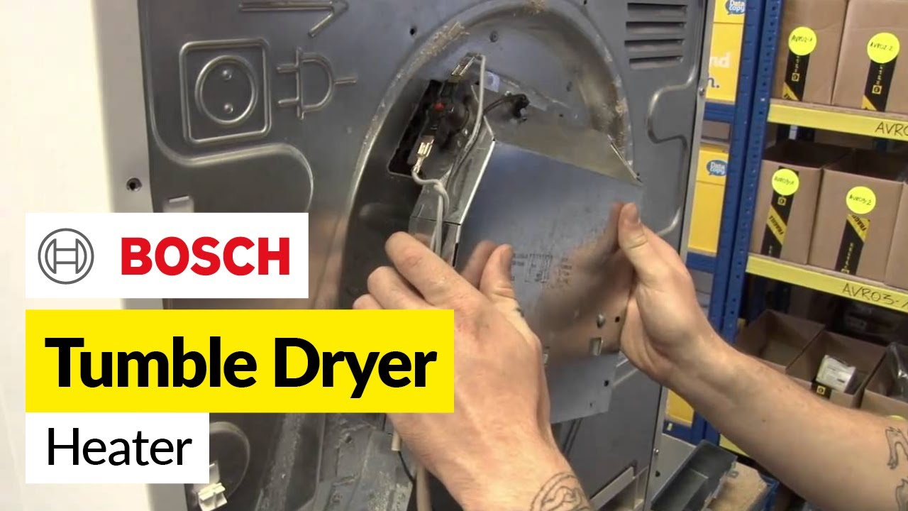 How to replace a tumble dryer heating element in a bosch dryer youtube how to replace a tumble dryer heating element in a bosch dryer sciox Image collections