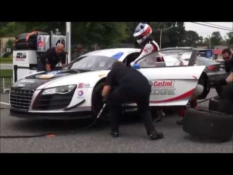 Paul Miller Racing Audi Demo Pit Stop