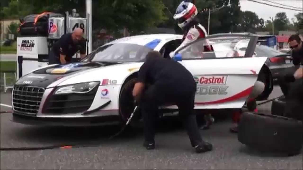 Paul Miller Racing Audi Demo Pit Stop YouTube - Paul miller audi