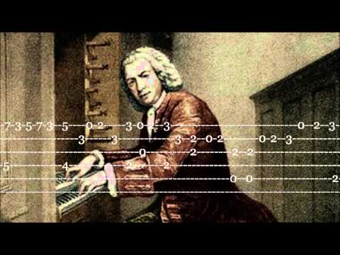 J.S.Bach - Minuet in G Major - Guitar Tab