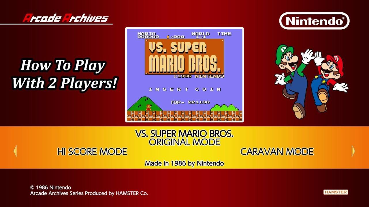 How To Unlock 2 Player Mode Arcade Archives Vs Super Mario Bros