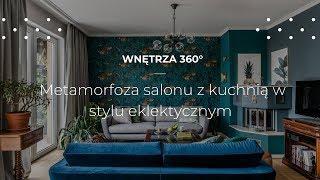 Metamorfoza salonu i kuchni w stylu eklektycznym #projekt wnętrz