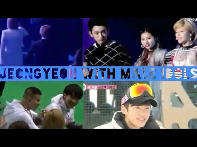 Jeongyeon with male idols (compilation)