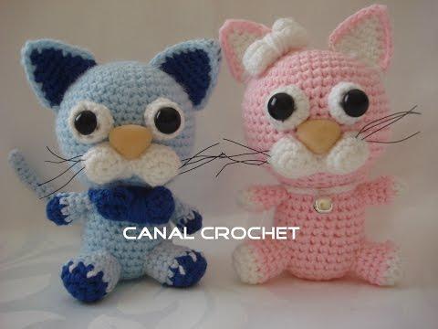 Osito Amigurumi Tutorial Canal Crochet : sonajero osito crochet tutorial FunnyCat.TV