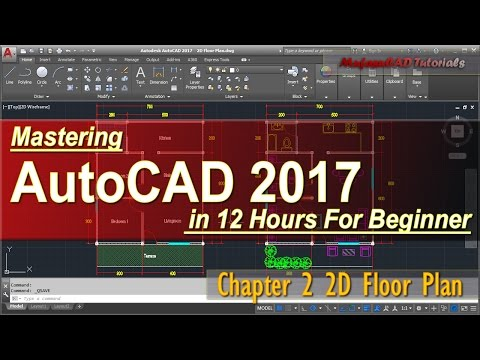AutoCAD 2017 2D Floor Plan Tutorial For Beginner | Course Ch