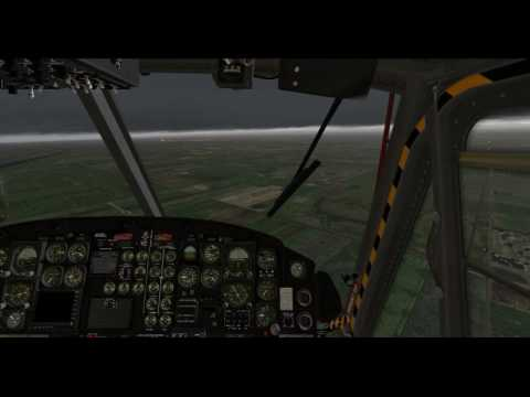 X-Plane 11 -- Bell-412 -- Travis AFB - Sacramento Exec. In Thunderstorm Conditions