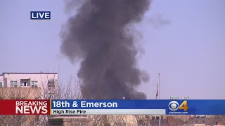 Fire Consumes Building Under Construction