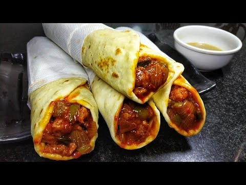 Schezwan Chicken Rolls  Indo - Chinese Recipe  Chicken Frankie Recipe   Mohini&39;s Meal Hub