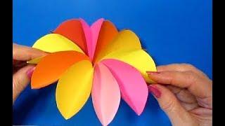 Супер-быстро Красивые ЦВЕТЫ! Как сделать ЦВЕТЫ СВОИМИ РУКАМИ? Поделки из бумаги