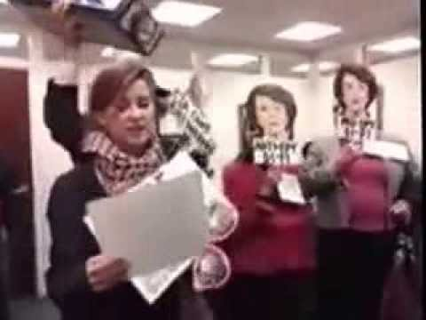 CODEPINK visits Feinstein's office to say: Stop the Lying, Stop the Spying!