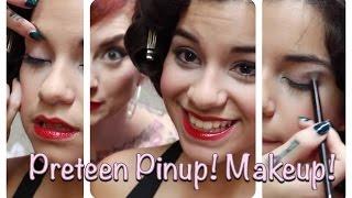 Teenage Pinup 1: Vintage Makeup Tutorial By CHERRY DOLLFACE