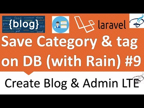 Laravel - Create Blog and Admin Panel | Save Category and Tags to DB #9
