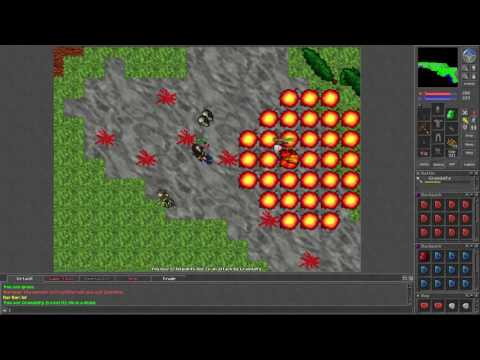 Tibia [7.21] Level 26 Paladin with Red Skulle goes PK