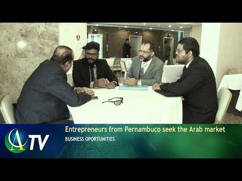 Arab and African diplomats meetings with Pernambuco businessman