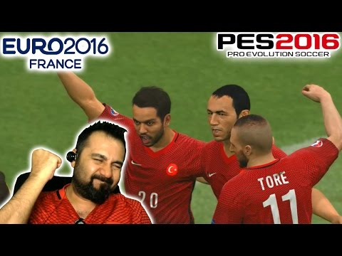 PES 2016 ile EURO 2016 #1 | MİLLİ TAKIMIMIZ FRANSA YOLUNDA!