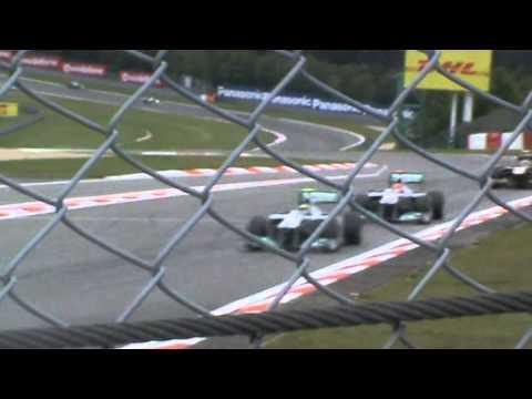 Michael Schumacher and Nico Rosberg fighting German GP 2011 Formula 1
