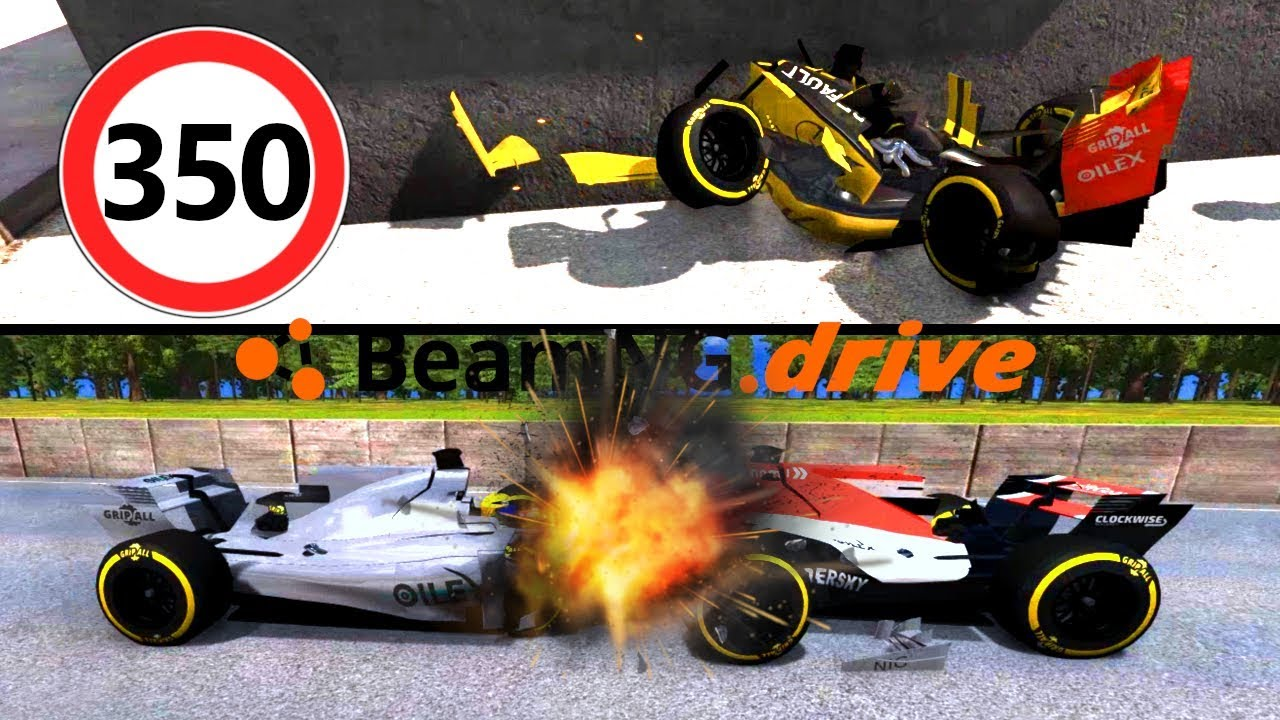 CRASH TEST FORMULA 1: Frontale - BeamNG Drive