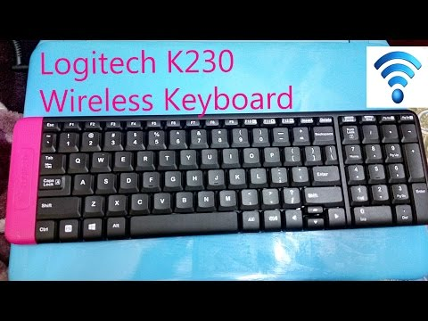 logitech k230 wireless keyboard unboxing