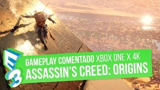 ASSASSIN'S CREED ORIGINS en XBOX ONE X a 4K - 30 min de GAMEPLAY EXCLUSIVO comentado