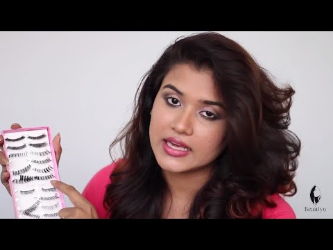 How to Apply Artificial Eyelashes (Hindi)