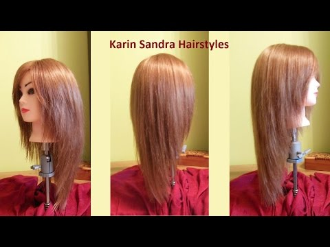 Long layered V Haircut Tutorial