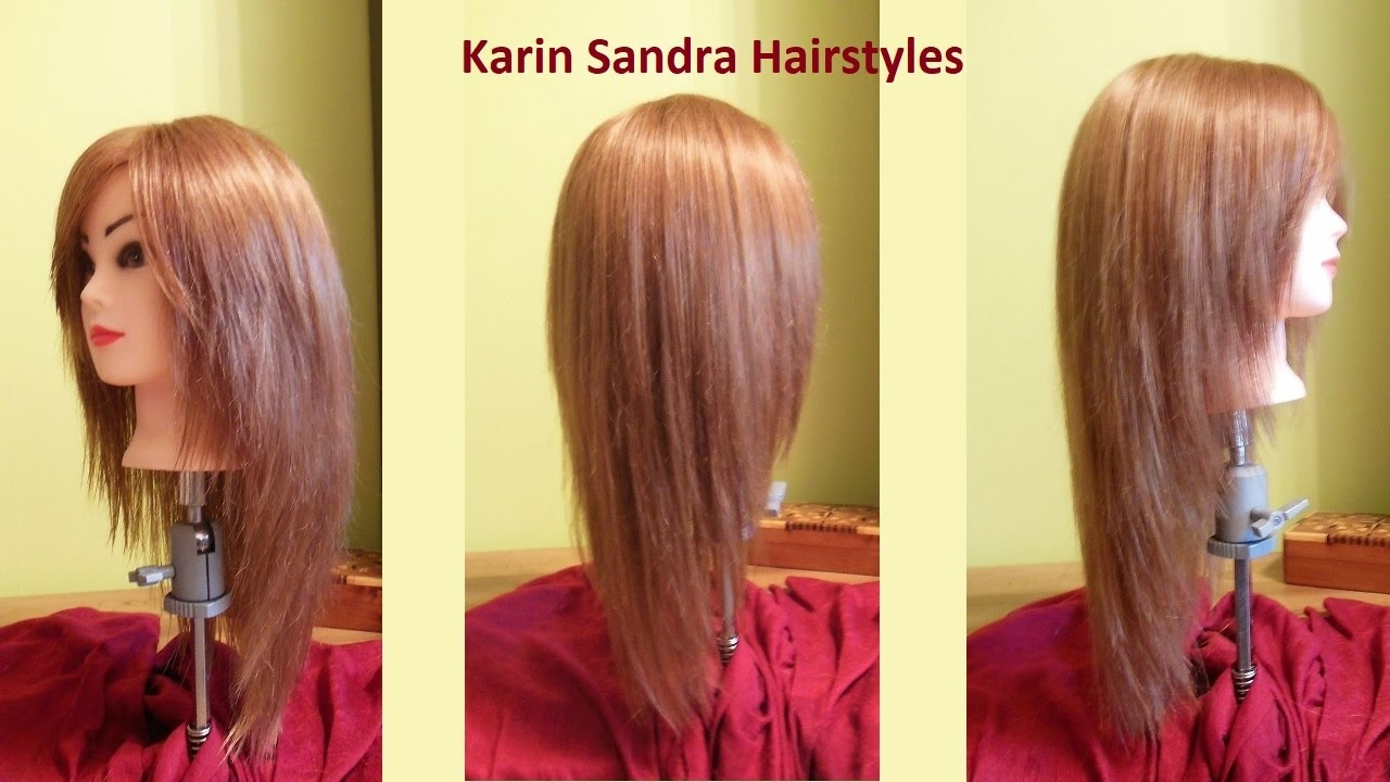 Long layered V Haircut tutorial  Haircut Face Framing layers  Long  haircut with layers  Coupe V