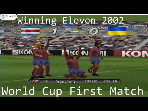 Winning Eleven 2002 PS1 World Cup First Match [Costa Rica VS Ukraine]