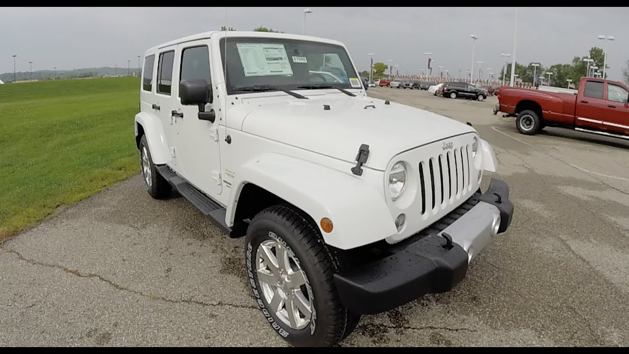 2015 Jeep Wrangler Unlimited Sahara White | Painted Hard Top | Leather |  17562   YouTube