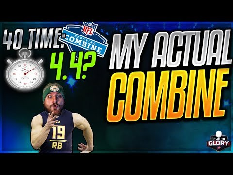 MY REAL LIFE COMBINE NUMBERS -- 40 TIME + BENCH PRESS | NCAA FOOTBALL ROAD TO GLORY | EPISODE 2