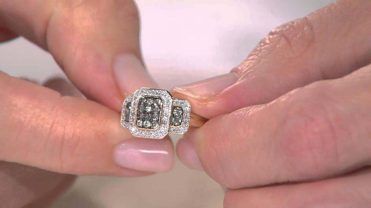 0.25 ct tw Alexandrite & 1/7 ct tw Diamond Ring 14K Gold with ...