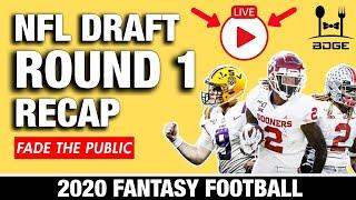 NFL Draft Day 1 Recap - Winners & Losers for 2020 Fantasy Football