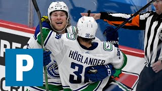 Nils Hoglander on Canucks 3-1 win over Winnipeg Jets | The Province