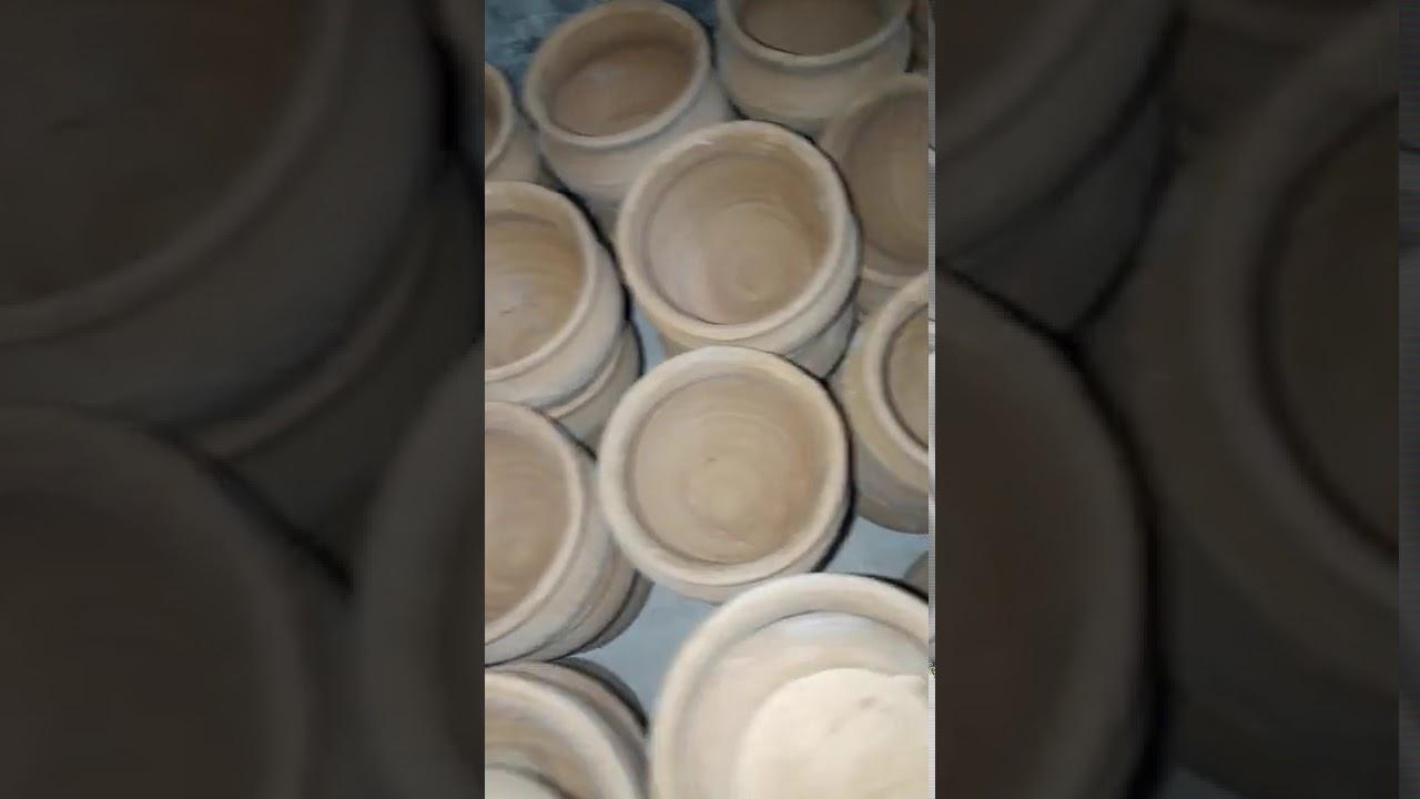 Clay pot stock