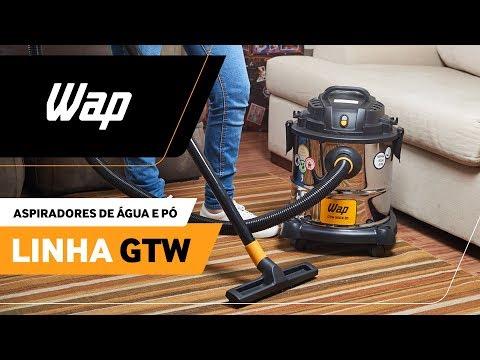Melhor aspirador de pó e água do mercado | WAP Linha GTW