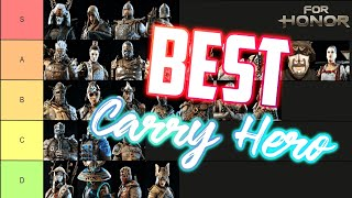 For Honor Year 4 Season 3 Top Tier Solo Carry Hero Tierlist Best Heroes To Win With In Ccu Youtube