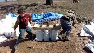 DIY Sandbag tubes, the easy way to fill sandbags!