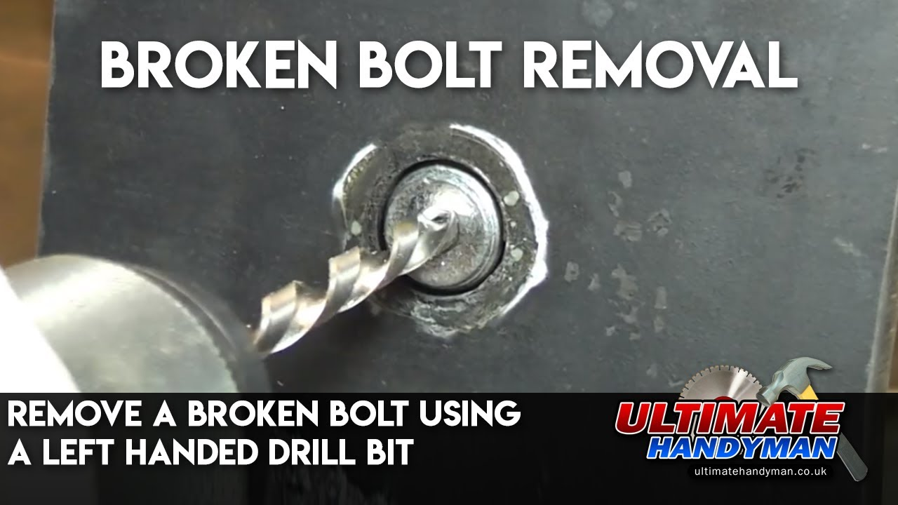 remove a broken bolt using a left handed drill bit youtube. Black Bedroom Furniture Sets. Home Design Ideas