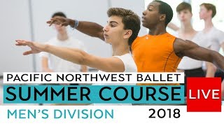PNB Summer Course 2018 -  Men's Division Ballet Class LIVE