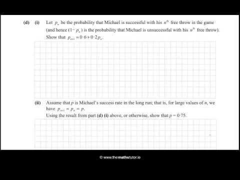 2015 Paper 2 Question 8 - Leaving Cert Higher Project Maths